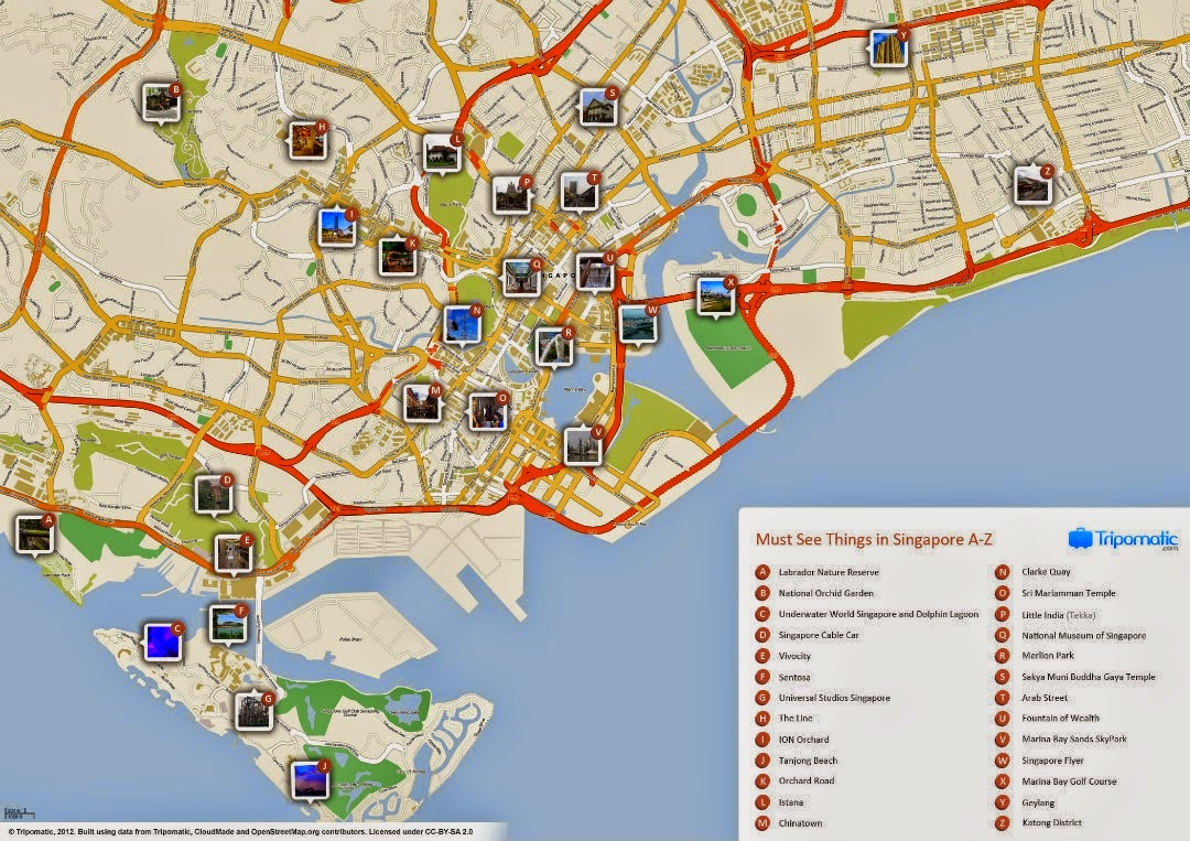 peta wisata singapore