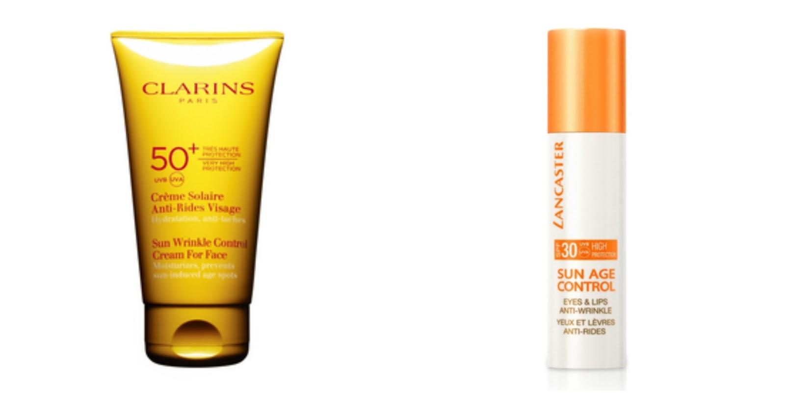 Protectores solares para el rostro: Clarins & Lancaster