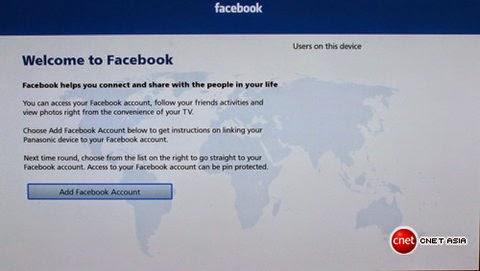 Truy cập Facebook thông qua ứng dụng có sẵn.