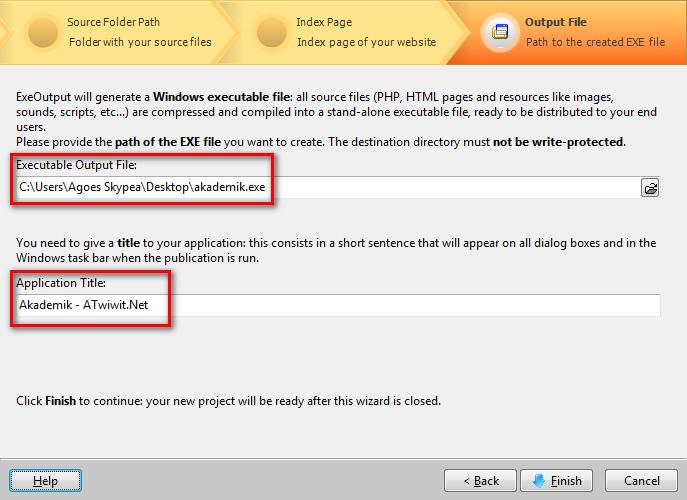 Cara mengubah project PHP menjadi .EXE - ATwiwit.Net
