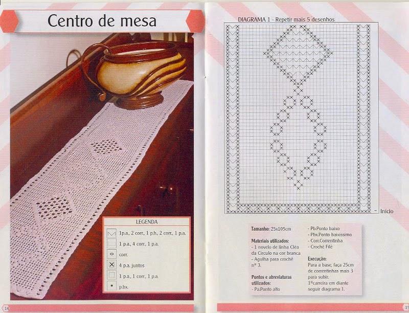 4 caminos de mesa delicados tejidos al crochet con esquemas