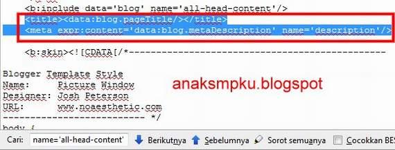 meta keyword blogger otomatis