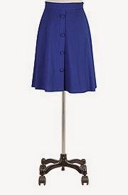 Self button front knit skirt