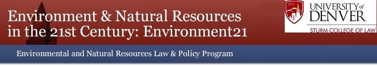 Environment & Natural Resources in the 21st Century