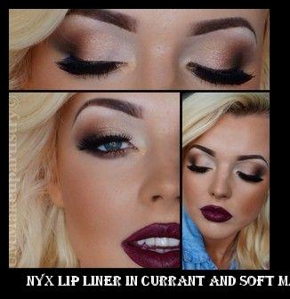 outlet air max nyx lip liner in currant and soft matte lip cream in makeup