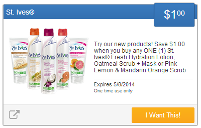 $1 St Ives Coupon Extreme Couponing Mommy: NEW SavingStar eCoupons