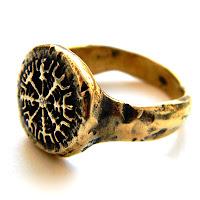 """Кольцо """"Компас Викингов"""" - ювелирные изделия из бронзы на заказ"""
