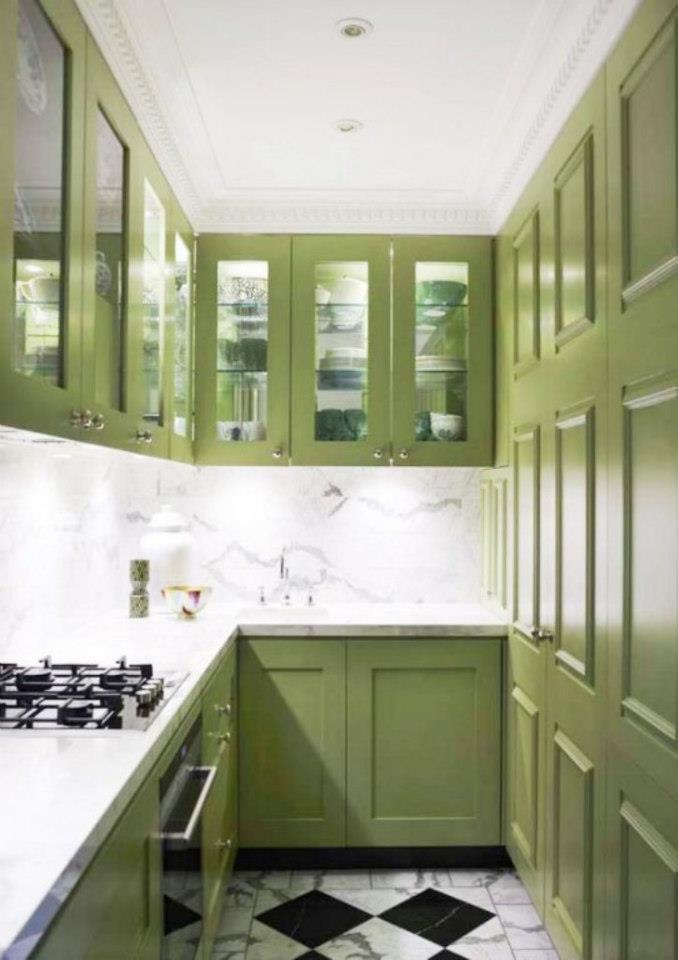 Marta decoycina: decorar la cocina en verde