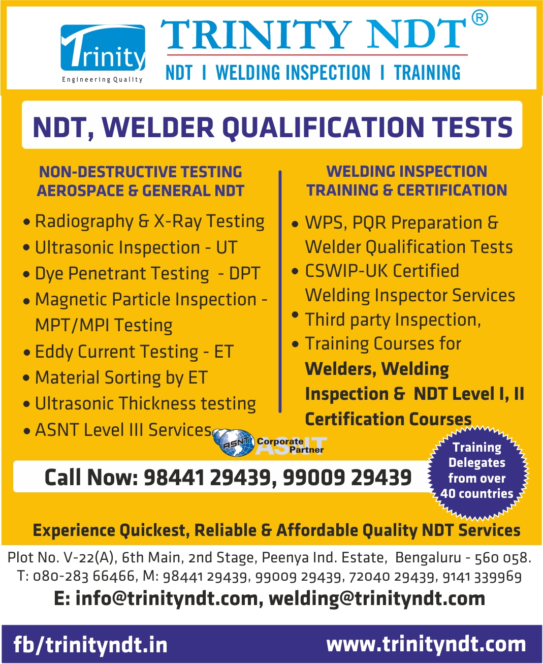 Trinity NDT Quality Services - Glance