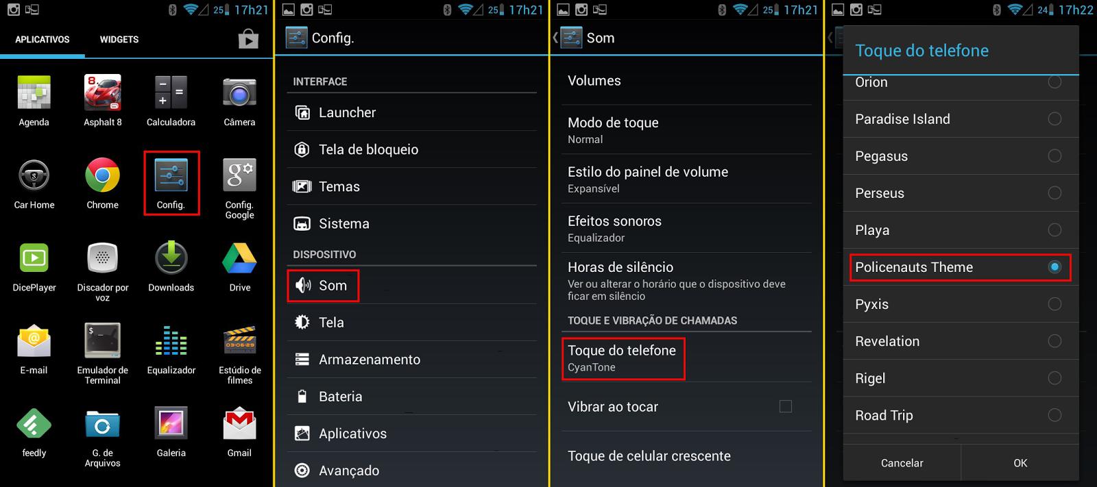 Toque em um smartphone Android - 2160x960