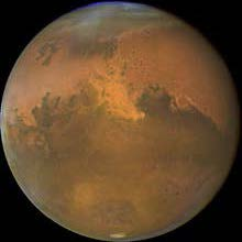beautiful planet mars, red terrestrial beauty