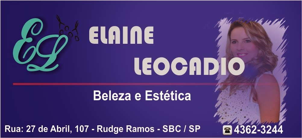 SALÃO DE BELEZA EM SÃO BERNARDO DO CAMPO - SBC - GRANDE ABC - ELAINE LEOCADIO