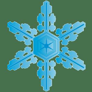 青い雪の結晶