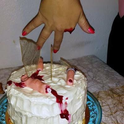 Halloween tårta