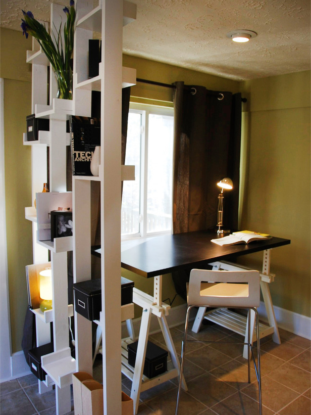 Modern furniture small home office design ideas 2012 from hgtv - Workspace ideas small spaces ideas ...