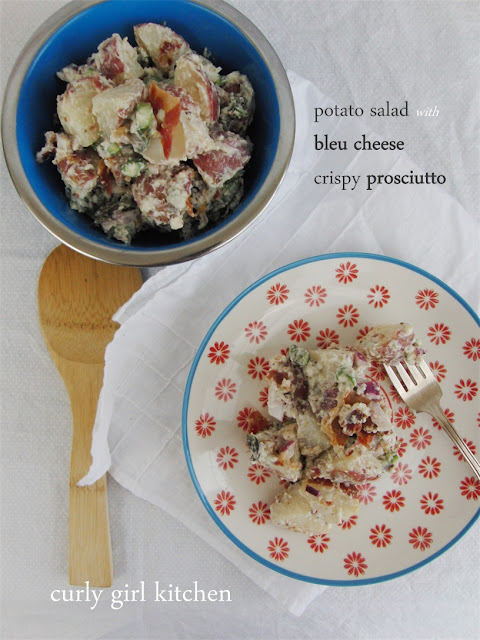 http://www.curlygirlkitchen.com/2013/06/potato-salad-with-bleu-cheese-and.html