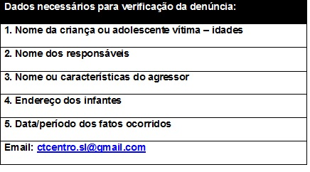 Denúncie ou entre em contato por e-mail