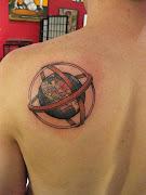 Globe Tattoo. at 3:34 AM (globe tattoo tattoosphotogallery)