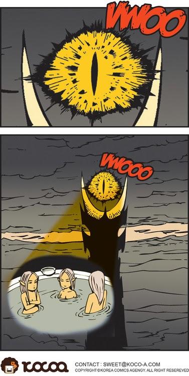 imagenes graciosas - el ojo de Sauron