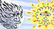the wind and the sun folktale