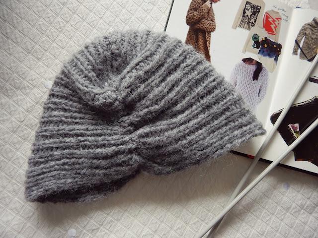 DIY Knitted Turban Beanie