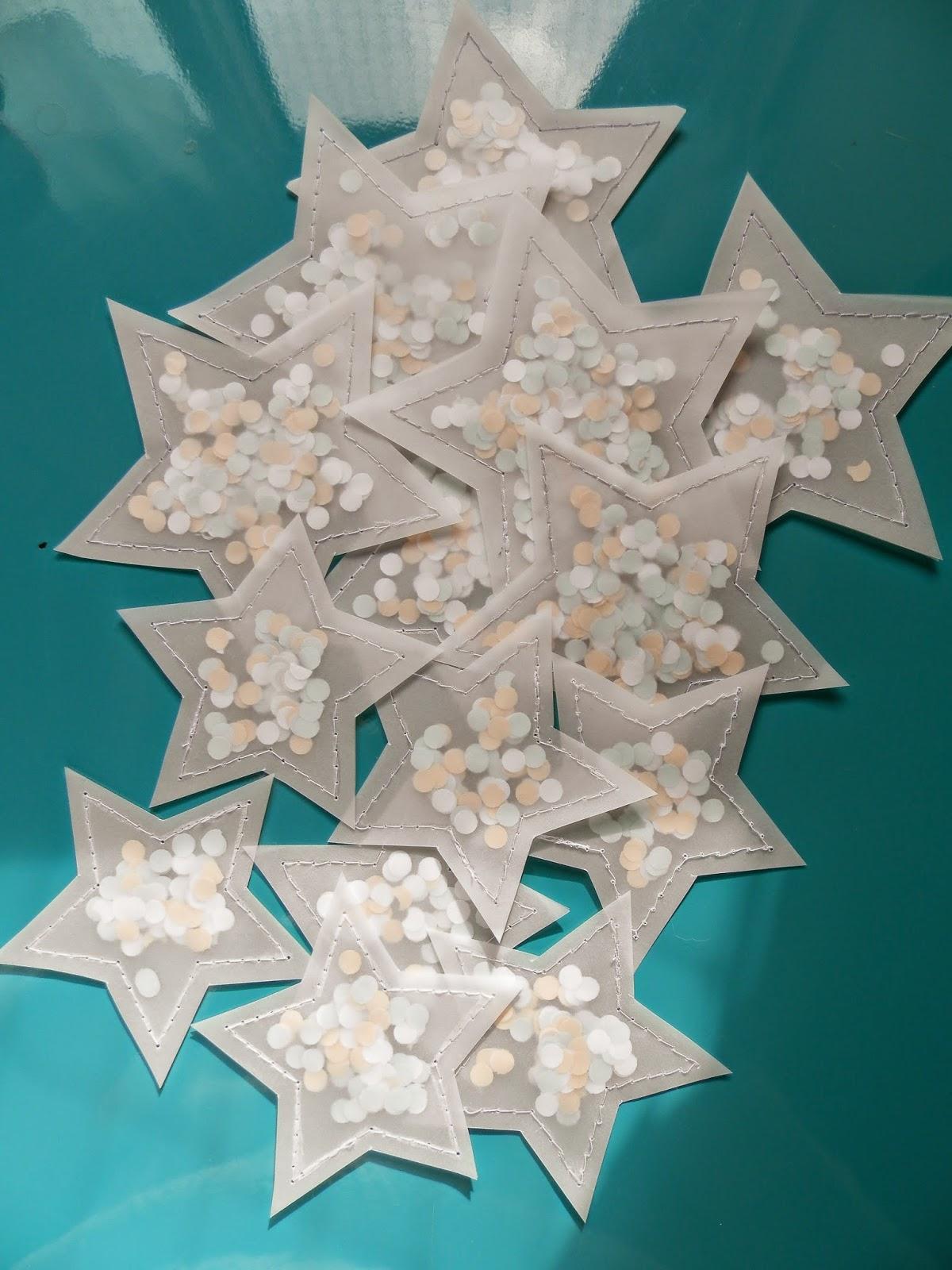 Coton et Création : étoiles en calque