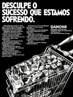 Danone, 1971; os anos 70; propaganda na década de 70; Brazil in the 70s, história anos 70; Oswaldo Hernandez;