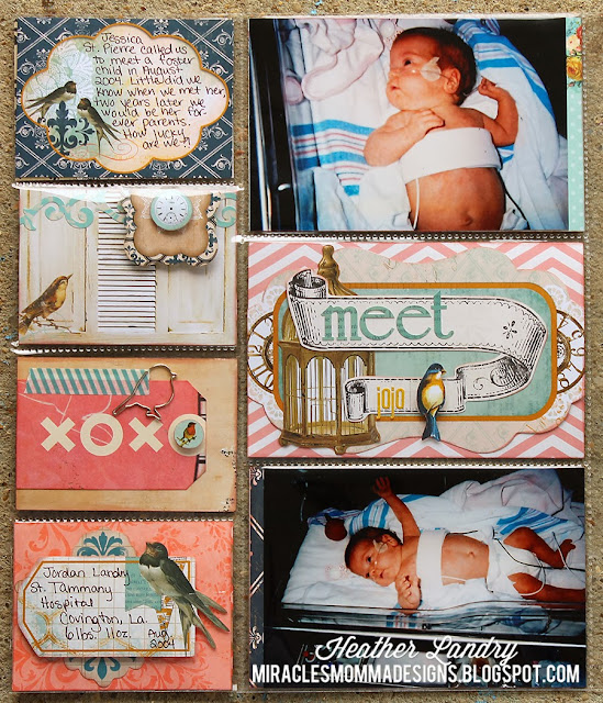 Preemie Scrapbook_Project Life_Pocket Pages_Bird