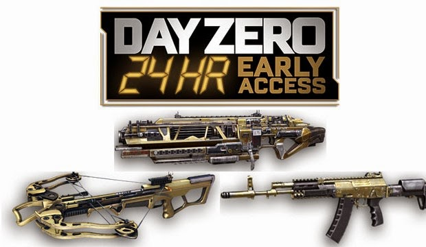"Armas de exclusívas de ""Day Zero"" de Call of Duty: Advance Warfare"