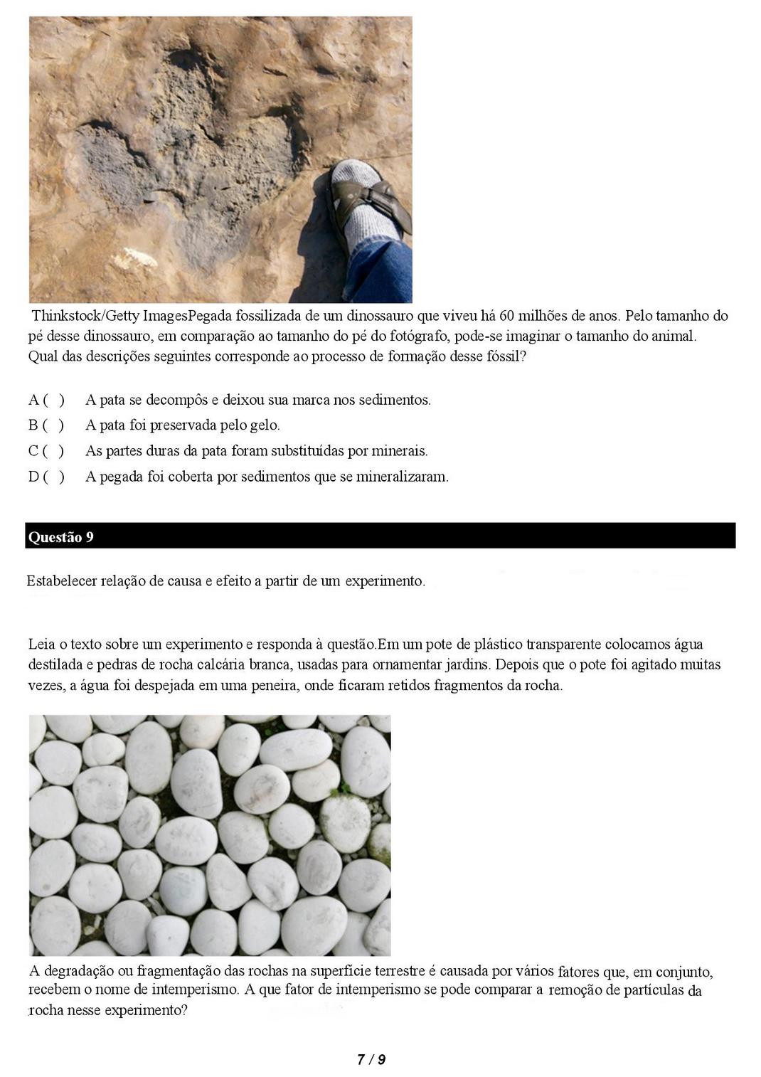 Atividades de ciências 6 ano rochas