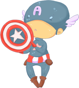 Chibi Captain America 2 por Chibi-Engineer