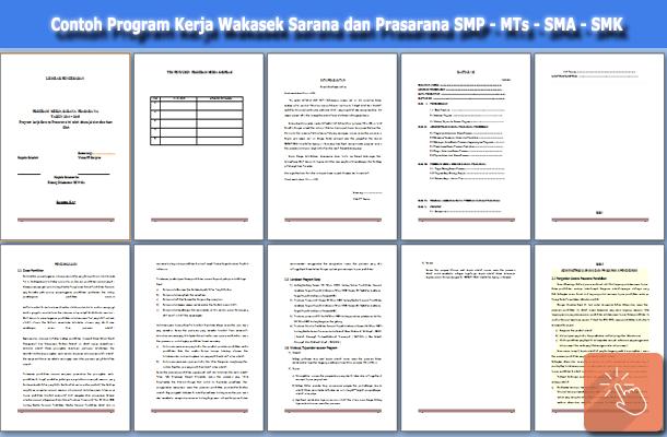 Program Kerja Wakasek Sarana dan Prasarana SMP/MTs SMA/SMK