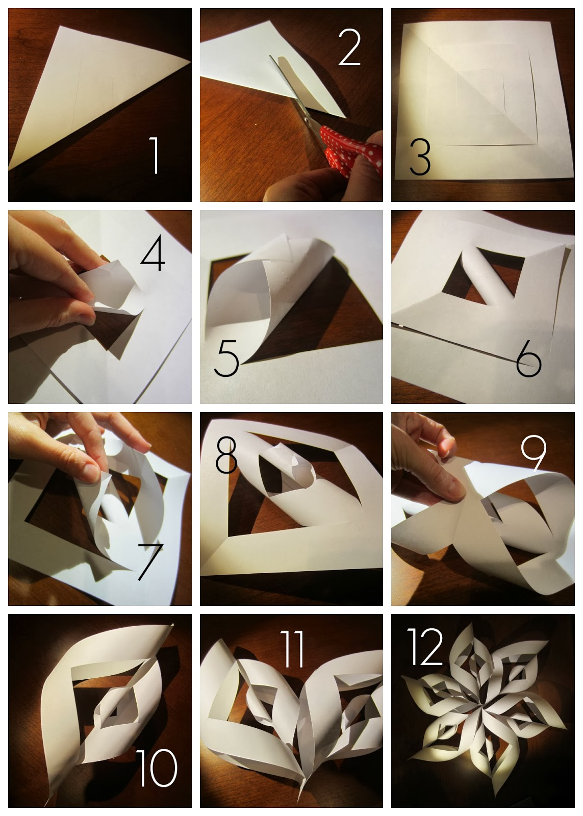 Relentlessly fun deceptively educational how snowflakes for How to make a real paper snowflake