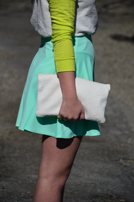 sailing the sea of style mint and neon outfit