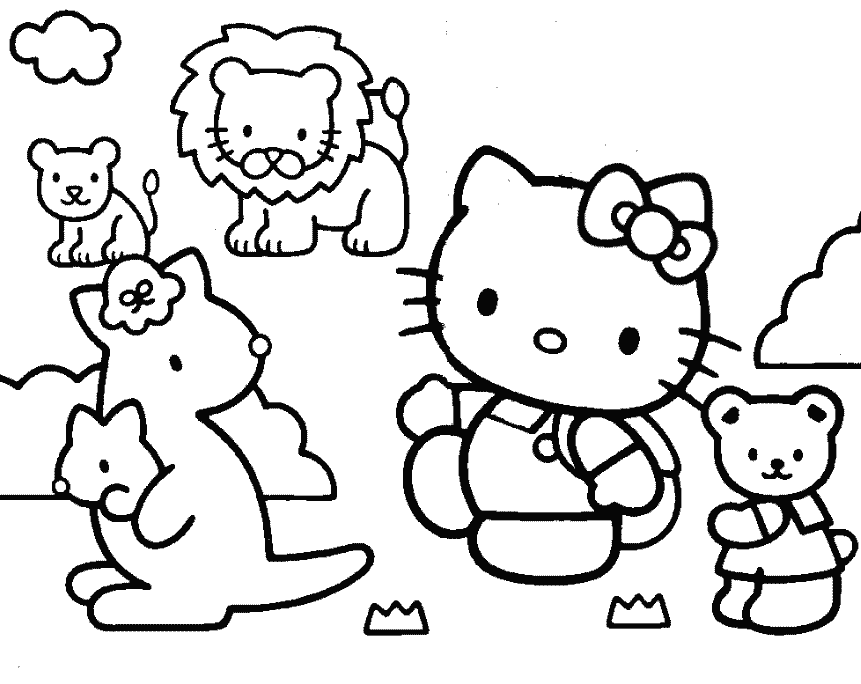 Coloring Pages Hello Kitty Dolphin : Free printable hello kitty coloring pages fit to print