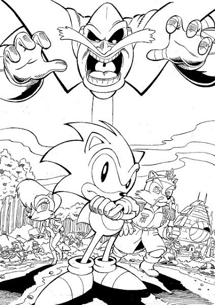 Sonic Hedgehog Coloring Pages Print