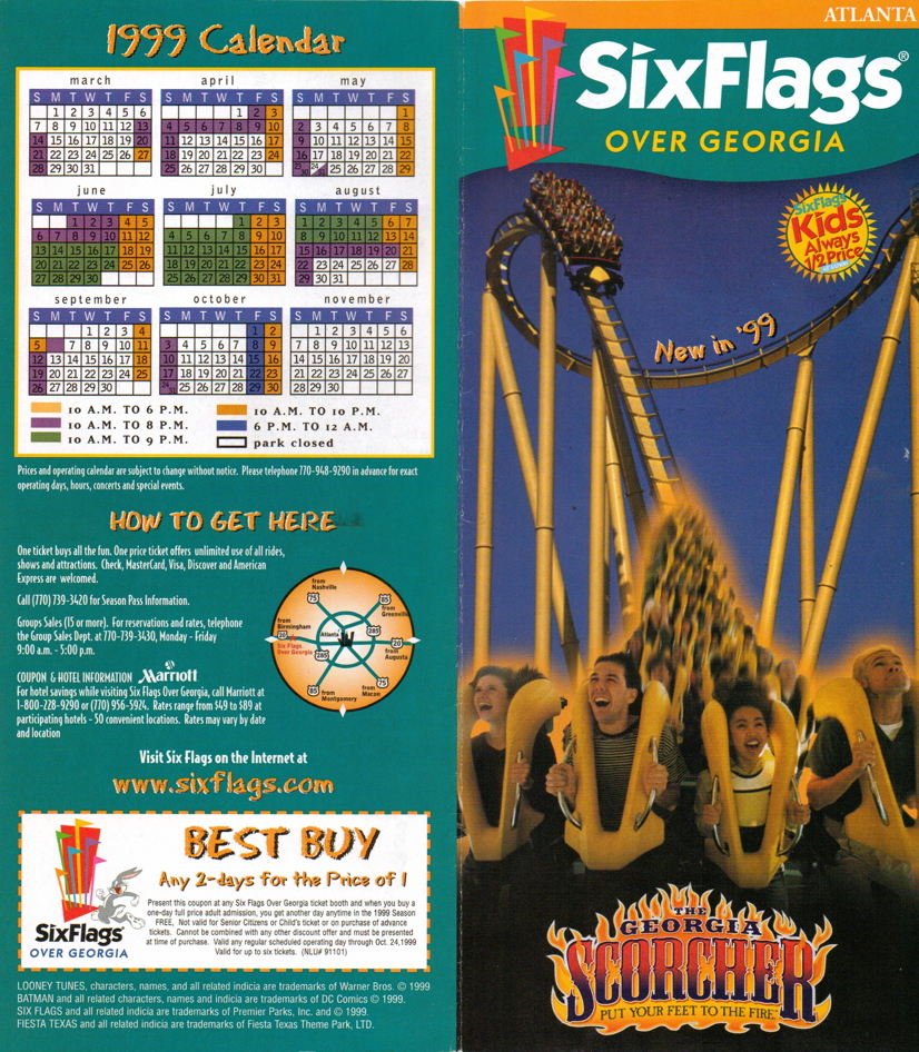NewsPlusNotes: From The Vault: Six Flags Over Georgia 1999 Brochure