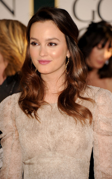 Leighton Meester Half Up Down Prom Hairstyles 2013