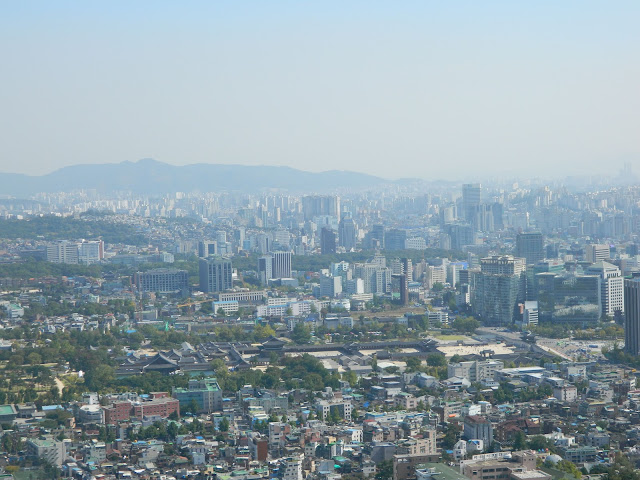 Gwanghwamun Palace as seen from the Mount Inwangsan