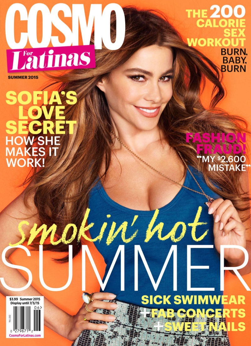 Sofia Vergara bares cleavage for Cosmo for Latinas Summer 2015
