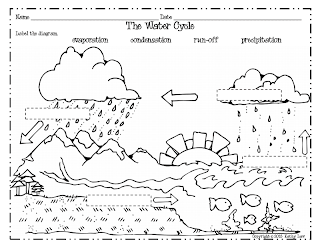 Printable Water Cycle Worksheets on science landforms worksheets