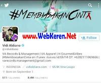 @Vidialdiano, Akun Twitter artis penyanyi single Indonesia terpopuler dengan followers terbanyak