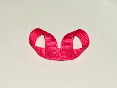 3D Grosgrain ribbon owl hair bow clip DIY tutorial how to