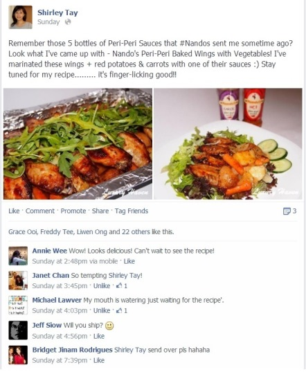 facebook comments nandos peri-peri baked wings