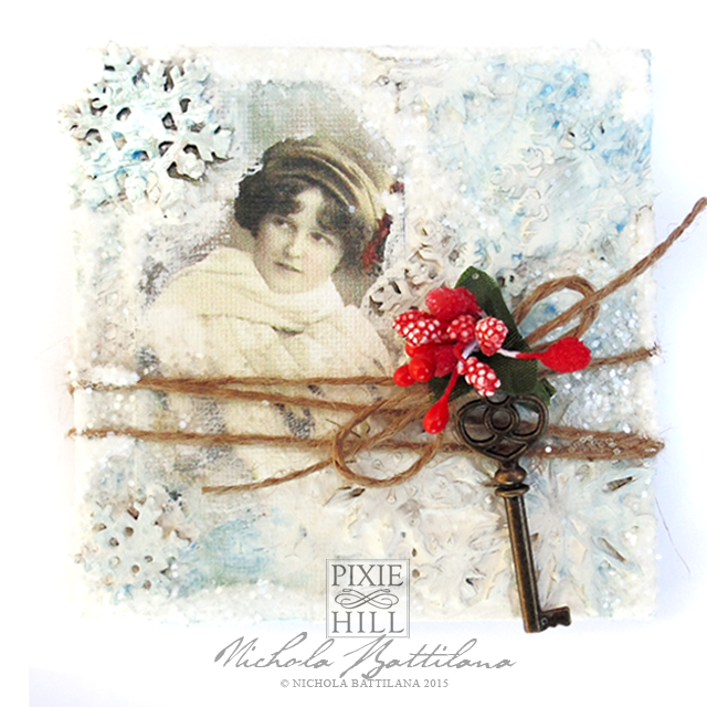 Simple Mixed Media Canvas w/ Tutorial - Nichola Battilana