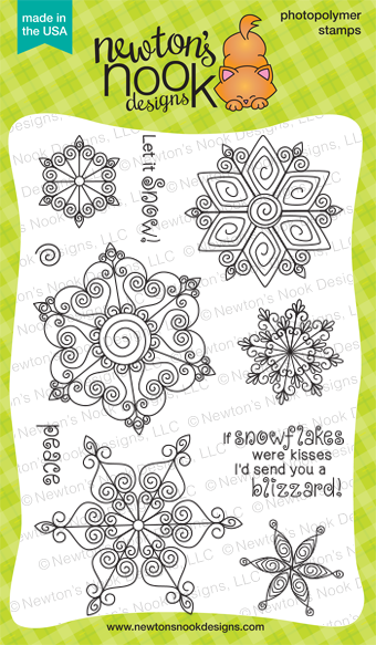 Beautiful Blizzard - 4x6 Quilled Snowflake Stamp set by Newton's Nook Designs