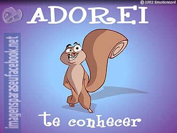 Mensagens para facebook - Adorei te conhecer!