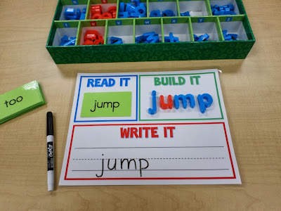 Mrs Gilchrists Class Read It Build It Write It for SPELLING – Words Template