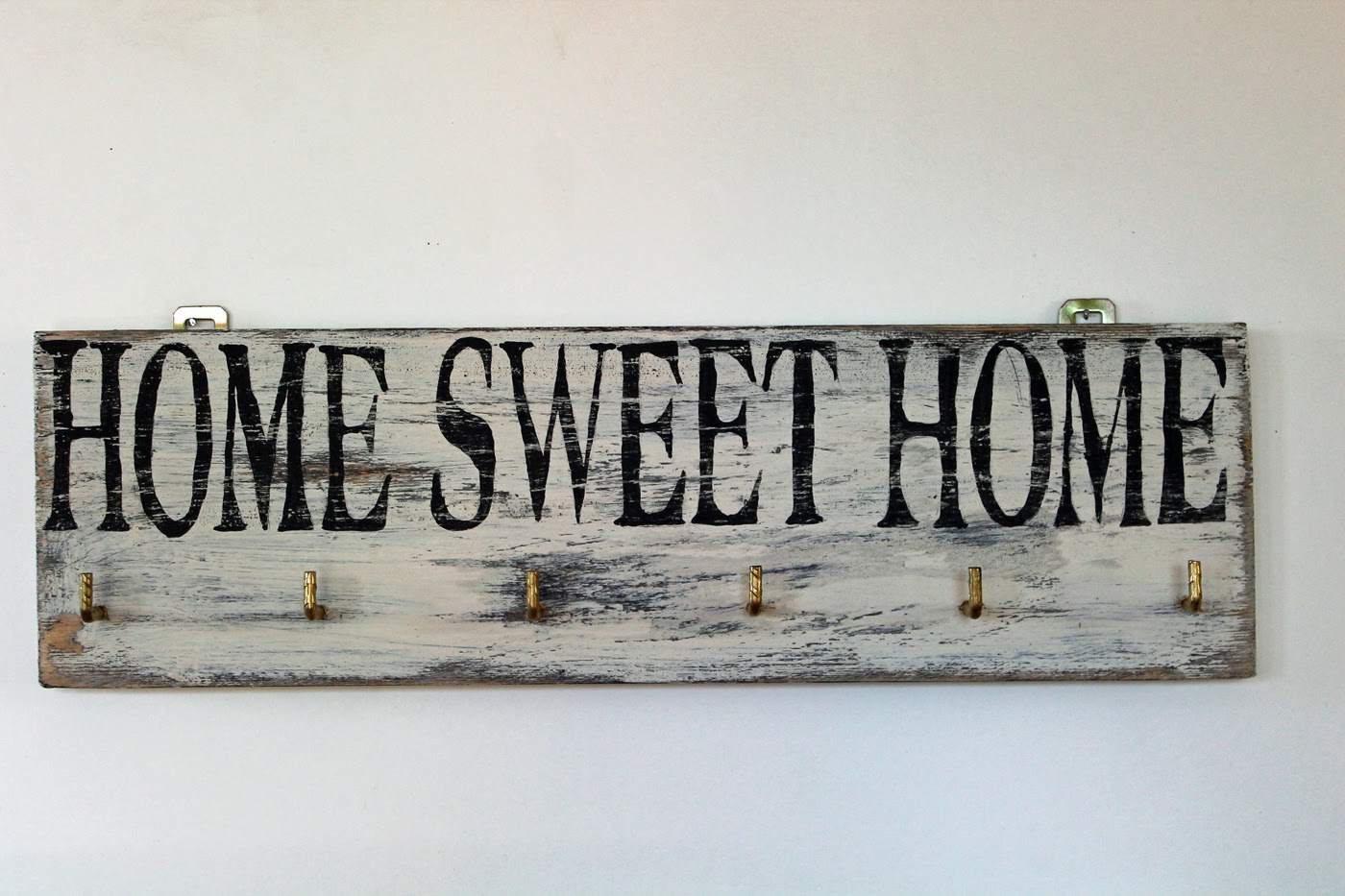 lillis handcraft holzschilder schl sselbrett im vintage stil mit der aufschrift home sweet. Black Bedroom Furniture Sets. Home Design Ideas