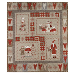 Lynette Anderson Designs SCANDINAVIAN CHRISTMAS BOM Quilt Pattern + Iron On Transfers